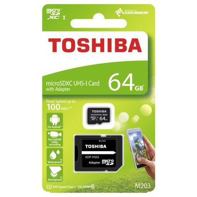 Toshiba 64GB Exceria M203 MicroSDXC (THN-M203K0640EA)