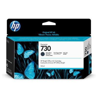 HP  P2V65A (730) MAT SIYAH 130 ML GENIS FORMAT MUREKKEP KARTUSU