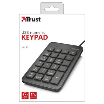 Trust Xalas USB Sayısal Mini Klavye (22221)