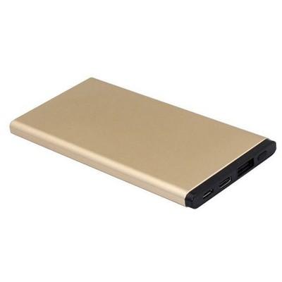 Dexim - Slim 5.000mAh Taşınabilir Şarj Cihazı-Gold (Micro USB-Lightning Giriş)