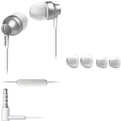 Philips SHE3855 Mikrofonlu Kulak İçi Kulaklık - Gümüş (SHE3855SL-00)