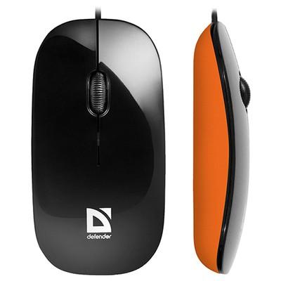Defender Mouse MM-440 Siyah turuncu 52444 kablolu Optik Mouse-09 m-USB-1000 dpi
