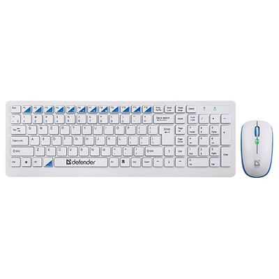 Defender Skyline 895 Kablosuz Klavye Mouse 45897 Beyaz/usb/2,4 GHz/1000/1500/2000 dpi Klavye Mouse Seti