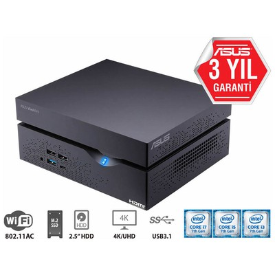 Asus VC66-BB313M i5-7400 RAM YOK- DİSK YOK- DOS (KM YOK) 3YIL HDMI-DP-AC Wifi-BT-VESA-CRD-BAREBONE Mini PC