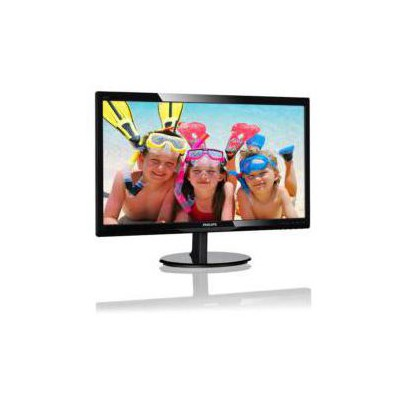 "Philips 246V5LDSB-01 24"" LED GAM 1920x1080 1ms VGA-DVI-HDMI Siyah Monitör"
