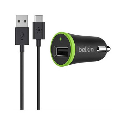 Belkin Type-C USB Araç Şarj Cihazı + USB-C Kablo Siyah