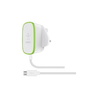 Belkin 12Watt Micro USB Şarj Aleti Sabit Kablolu Beyaz