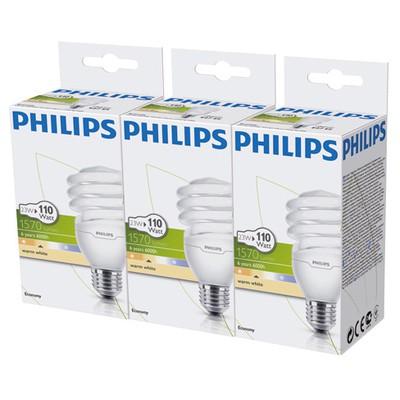 Philips Economy Twister 23W Sarı Işık Normal Duy 3'lü Ekopaket