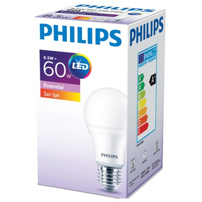 Philips  ESS LEDBulb 8.5-60W Normal Duy Sarı Işık