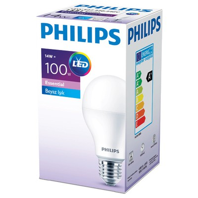 Philips ESS LEDBulb 14-100W Normal Duy Beyaz Işık