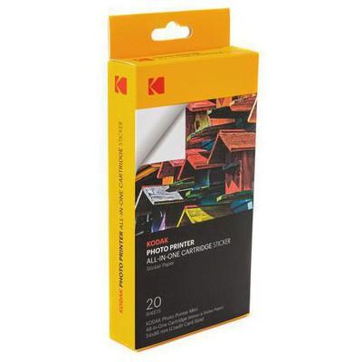 Kodak MSS20 Mini Shot ve Mini2 için 20 Adet Yapıştırmalı Baskı Kağıdı-Ribon