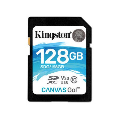 Kingston 128GB SDXC Canvas Go 90R-45W CL10 U3 V30
