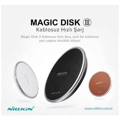 Nillkin  MD-WCP-3 Magic Disk 3 Hızlı Kablosuz Şarj - Kahverengi