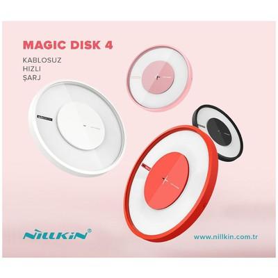 Nillkin  6902048152304 Magic Disc4 10W Hızlı Şarj Kırmızı