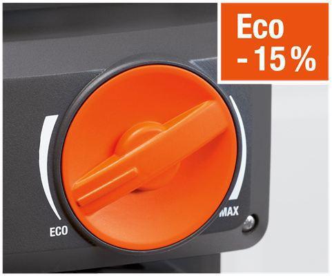 <strong>Enerji tasarruflu ayarlanabilir.</strong><br/>  Sonsuz kez ayarlanabilir eco modu normal çalıştırılmayla karşılaştırıldığında güvenilir, akıllı teknoloji.