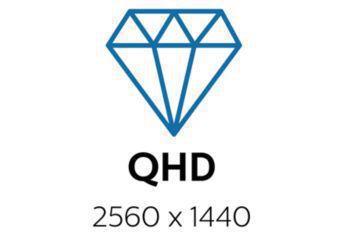 Quad HD 2560 x 1440 piksele sahip kristal netliğinde görüntüler