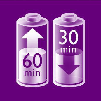 1 saat hızlı şarj ile 30 dakikaya kadar kablosuz kullanım
