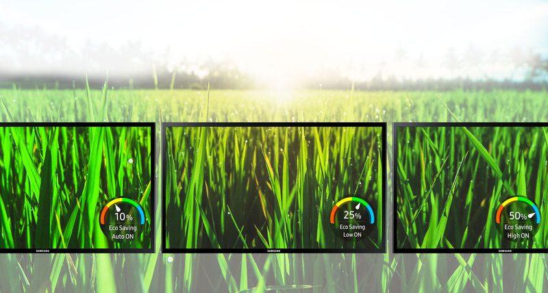 Samsung eko tasarruf teknolojisi enerji tüketimini ve çevreye etkiyi azaltır