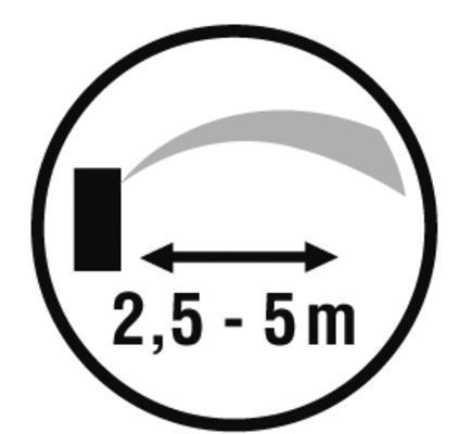 <strong>Alan boyutuna göre ayarlanabilir</strong><br/> Sulanacak alanın boyutuna bağlı olarak yağmurlama sisteminin mesafesi 2,50 ila 5 m arasında istendiği gibi ayarlanabilir.