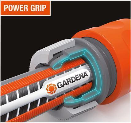 <strong>Power Grip sistemiyle</strong><br/> Yeni hortum profili mükemmel tutuş ve hortum ve hortum ekipmanları arasında  güvenli bir bağlantıyı garanti eder. Bu nedenle, yükseltilmiş profil hortum kolayca sarılır ve düzgünce kayar.