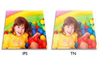Görüntü ve renk hassasiyeti için IPS LED geniş ekran teknolojisi