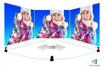 Görüntü ve renk hassasiyeti için IPS-AHVA geniş ekran teknolojisi