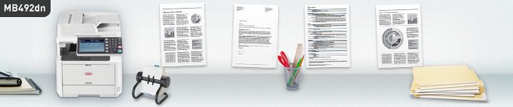 Talepkar kullanıcılar için yüksek performanslı A4 siyah/beyaz çok fonksyionlu yazıcı