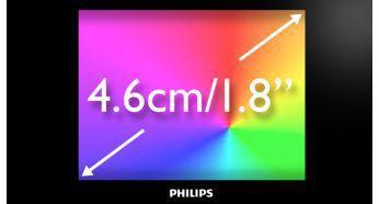 """Kolay, sezgisel gezinme için 4,6 cm/1,8"""" tam renkli ekran"""