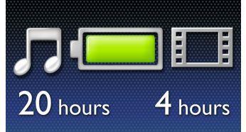20 saate varan müzik veya 4 saate varan video keyfi