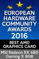 European Hardware Community award Best AMD Graphics card