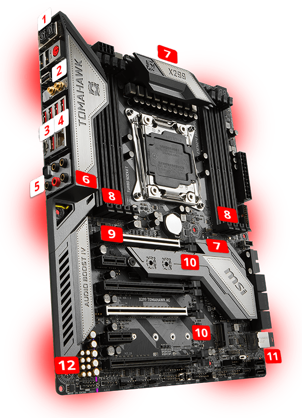 MSI X299 TOMAHAWK AC overview