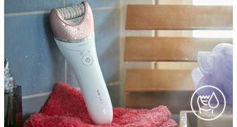 Banyoda veya duşta ıslak ve kuru kullanım