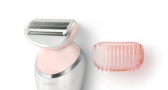 Yakın bir tıraş için tıraş başlığı ve düzeltme tarağı