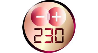 Profesyonel sonuçlar için 230°C profesyonel sıcaklık