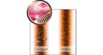 Parlak saçlar ve kolay hareket için keratin katkılı seramik plakalar