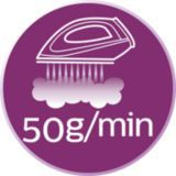 50 grama kadar kesintisiz buhar