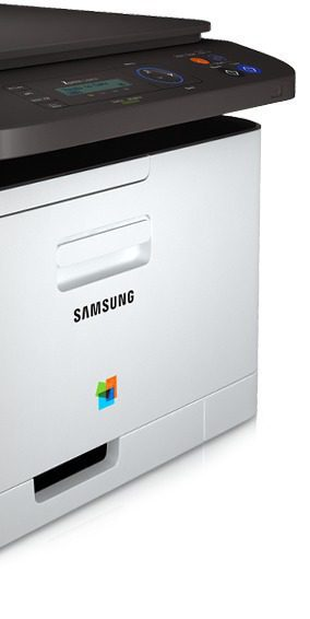 The front of Samsung Xpress C460W printer.