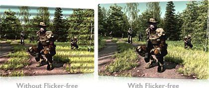 Gaming-comfort Flicker-free Technology