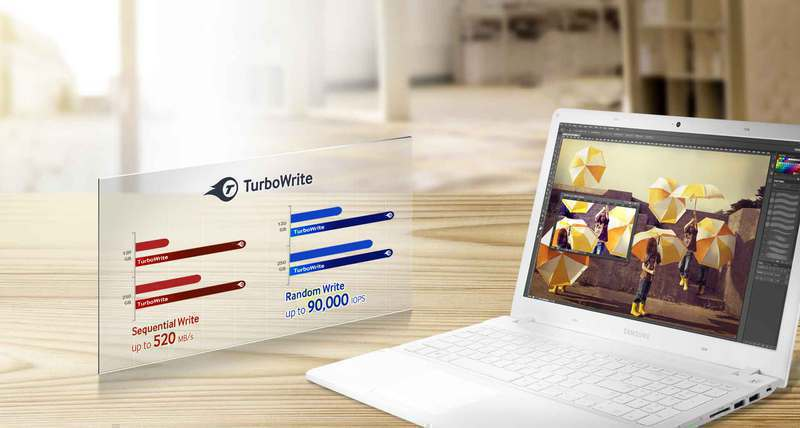 Günlük işlemlerinizi rakipsiz okuma / yazma hızları sunan TurboWrite teknolojisi ile optimize edin