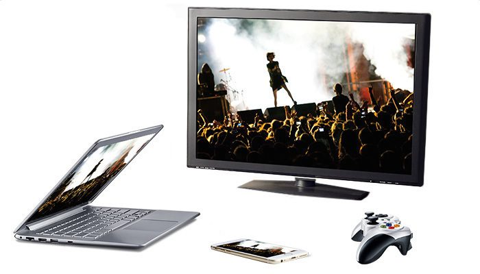 Laptop, TV, gaming console, smartphone and tablet devices