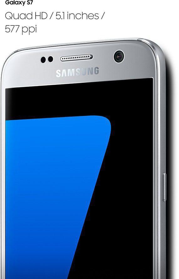 Galaxy S7'nin sağ taraftan açılı perspektiften görüntüsü