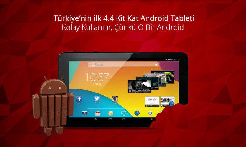 Zoom II Tab-Türkiye'nin İlk 4.4 Kit Kat Android Tableti