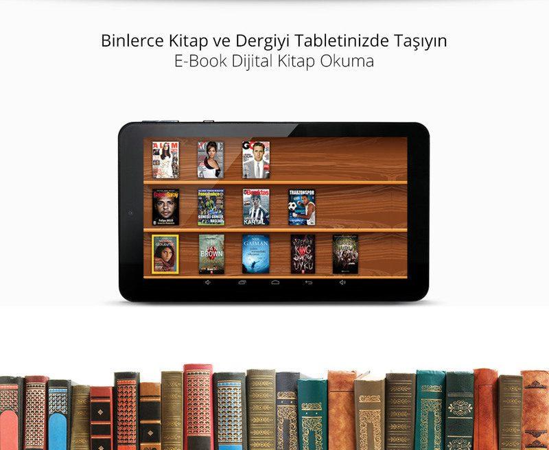 Zoom II Tab-Binlerce Kitap ve Dergiyi Tabletinizde Taşıyın
