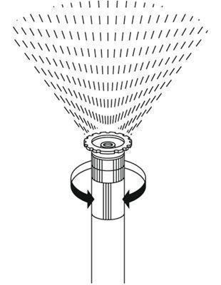 <strong>Kesim ayarı</strong><br/> Sulanacak sektör 5 - 360° arasında seçilebilir.