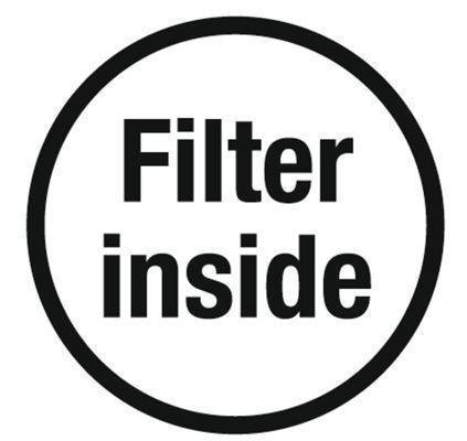 <strong>Tanecik filtresiyle</strong><br/> Entegre tanecik filtresi kesintisiz çalışmayı sağlar.