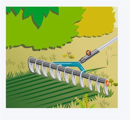 <strong>Uygulamada evrensel</strong><br/>  GARDENA combisystem Aeratör Tırmık yalnızda çime zarar vermeden yosunları ve ayrık otlarını temizlemek için değil, toprak parçalarını ufalamak veya tesviye etmek için de uygundur. Bahçenizde her işe yarar.