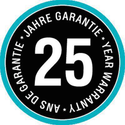 <strong>25 yıl garantili, yüksek kalite ve uzun ömürlü hortum.</strong><br/> Kalitemizi ispatladık. Bu yüzden GARDENA uygun kullanımı ile bir 25 yıl garanti verir.