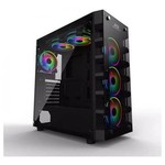 Power Boost X-59-650 X-59 650w 80+ Usb 3.0 Tempered Glass 6 X Rainbow Fixed Led