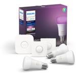 Philips Hue Renkli 3'lü E27 Akıllı Butonlu Bluetooth Özellikli