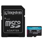 Kingston 64GB Canvas Go Plus UHS-I U3 SDXC + Adaptör (SDCG3-64GB)